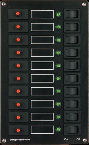 PHILIPPI STV 10 schakelpaneel 10-voudig - automatische zekeringen