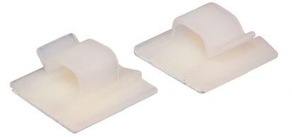 Zelfklevende kabelclip plastic