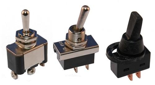Toggle switch screw terminal 12 V/25 A a/u