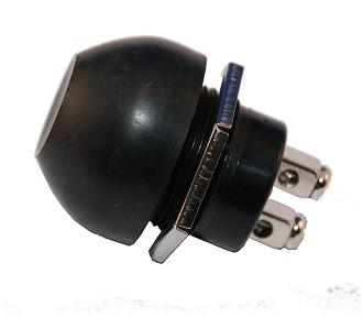 Waterproof drukknopschakelaar 24V./4 Amp. 6.3 x 22 mm.