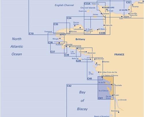 Imray kaart C 41 Gironde