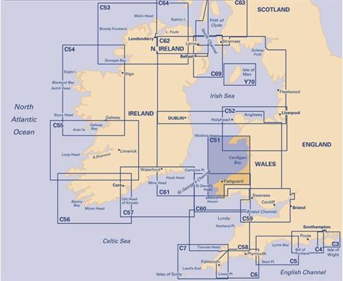 Imray kaart C 51 Cardigan Bay