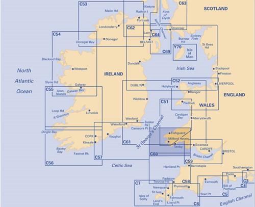 Imray kaart C 60 Gower Peninsula to Cardigan