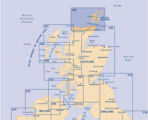 Imray kaart C 68 Cape Wrath to Wick and Isle of Lewis