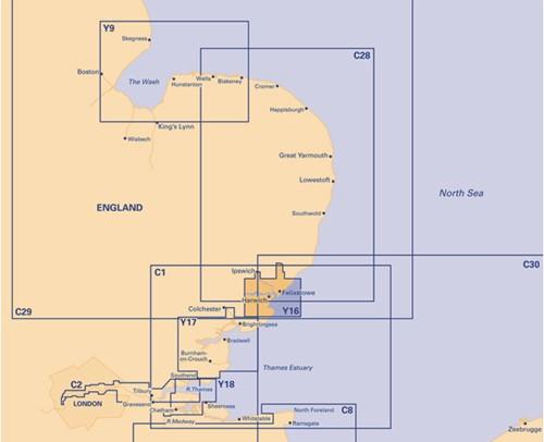 Imray kaart Y 16 Walton blackwaters