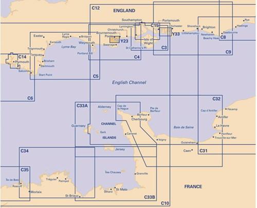 Imray kaart Y 23 Poole harbour