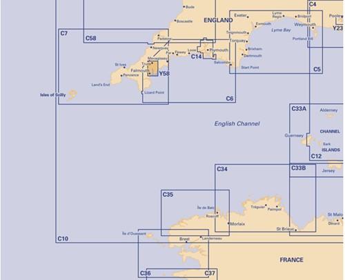 Imray kaart Y 58 River Fal