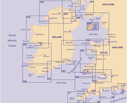 Imray kaart Y 70 Isle of Man