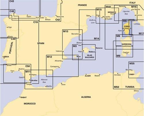 Imray kaart M 6 Ile de Corse