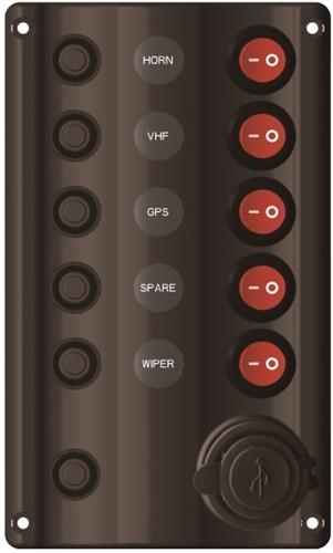 Wave schakelpaneel 5V + USB