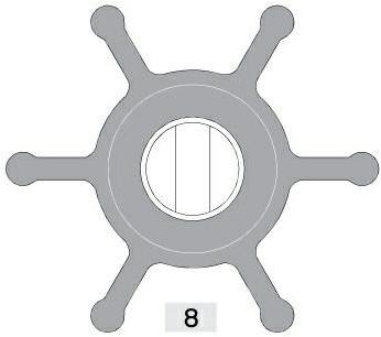 Lombardini Impeller #4200206 c