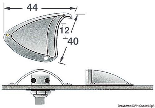 Ventilatie schelp groot PGK