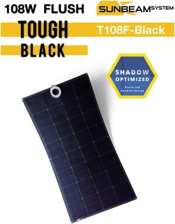 Sunbeam Tough 111W Flush Black Flexibel zonnepaneel zwart