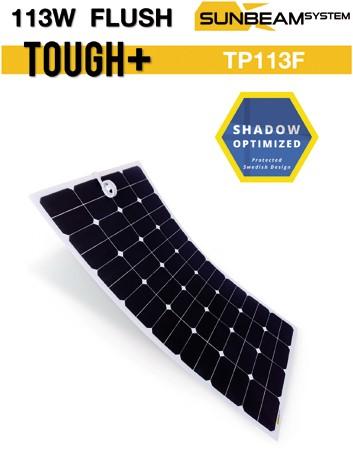 Sunbeam Tough+ flexibel zonnepaneel 113W Flush