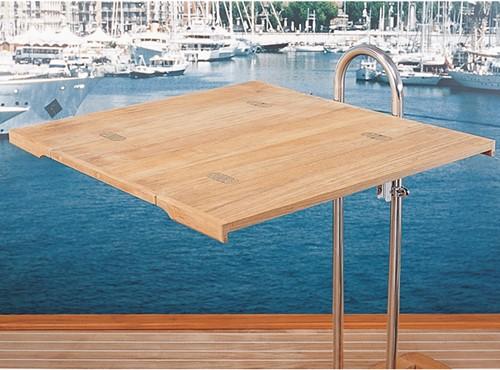 ARC Marine klapbaar tafelblad massief teak 64x 70/ 35 cm