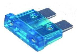 Vlaksteekzekering  15 Amp/ Blauw