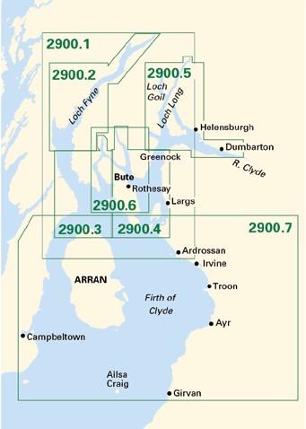 Imray kaartenset 2900 Firth of Clyde