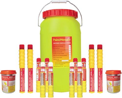 Pains & Wessex Noodsignalenset RORC/SOLAS Offshore- Waterdichte container