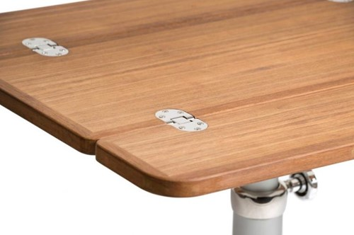 ARC Marine klapbaar tafelblad teak fineer 70 x 60/ 30 cm