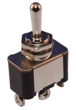 Toggle switch screw terminal 12 V/25 A a/u/a