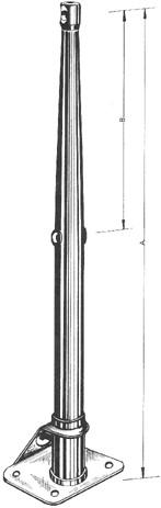 Scepter 55 cm. 316 RVS