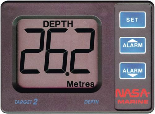 Nasa Target Dieptemeter met alarm signaal - weergave 0,8 tot 100 meter