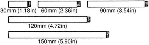 Simrad tiller verlengpijp voor helmstok stuurautomaat - 150 mm
