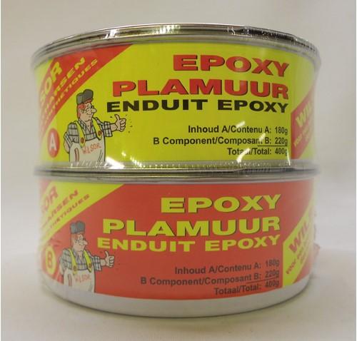 Wilsor epoxyplamuur wit 400 gr