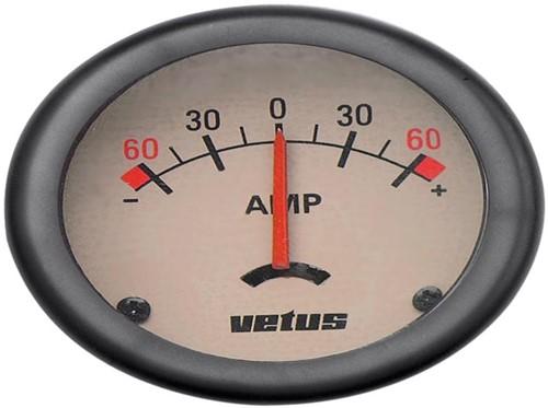 Amperemeter 12/12V 60A Vetus Creme