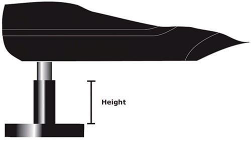 Simrad hoogte voetstuk voor bevestiging van helmstok stuurautomaat - 30 mm