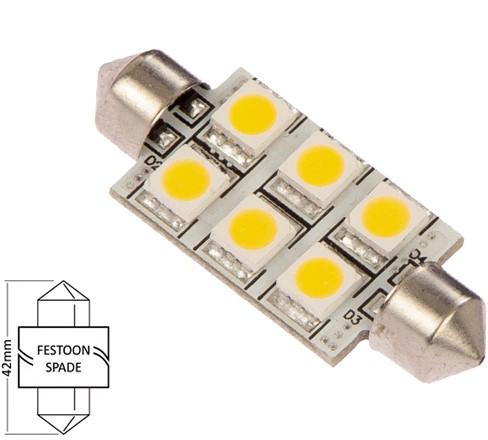Buis 42mm 10-30VDC 1.2W/10W WW
