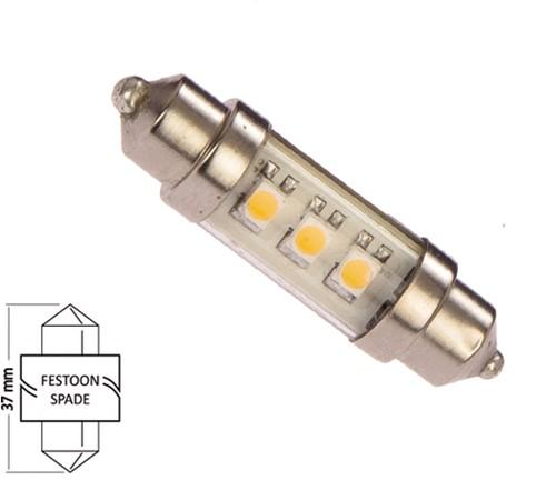 Buis 37mm 10-16VDC 0.6W/5W WW