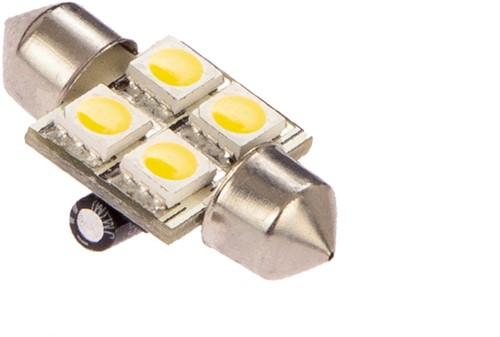 Buis 31mm 10-30VDC 0.8W/8W WW