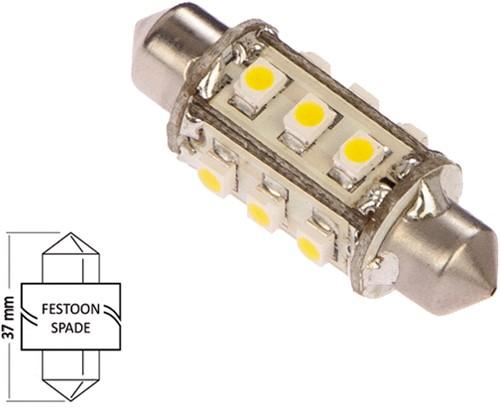 Buis 37mm 10-30VDC 1.2W/10W WW