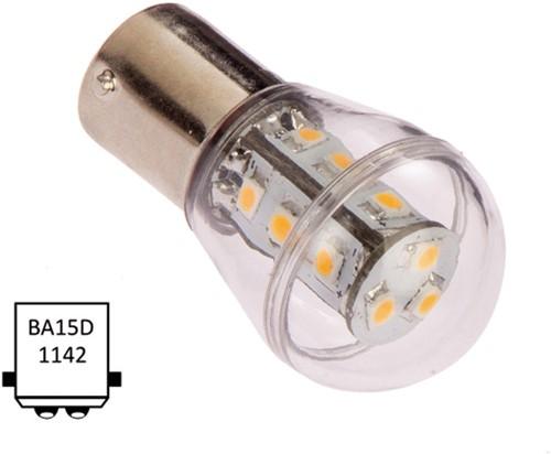 Ba15D dubbel 10-35VDC 1.6W/15W WW