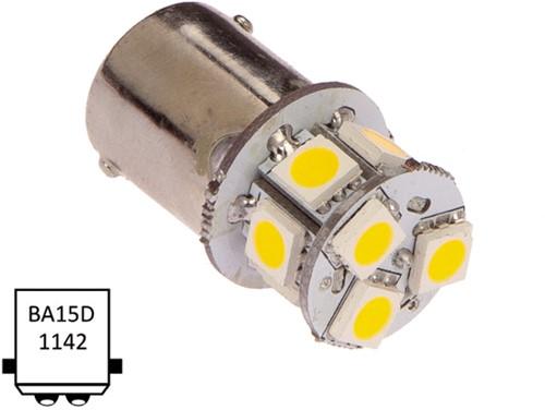 Ba15D dubbel 10-30VDC 1W/10W, WW