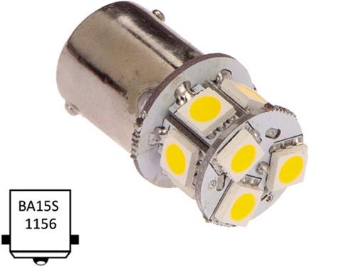 Ba15S enkel 10-30VDC 1W/10W WW