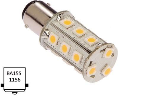 Ba15S enkel 10-30VDC 2.6W/25W WW