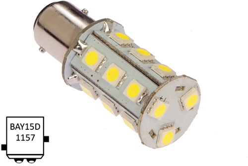 BaY15D 10-30VDC 3.6/25W koel wit