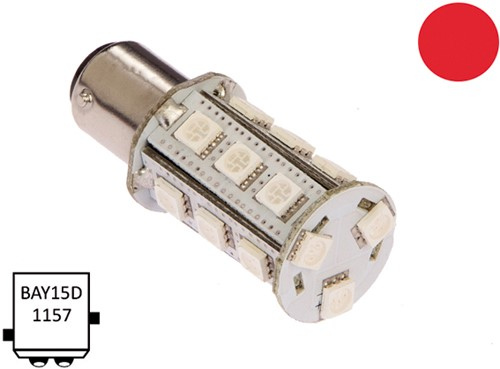 BaY15D 10-30VDC 3.6/25W rood