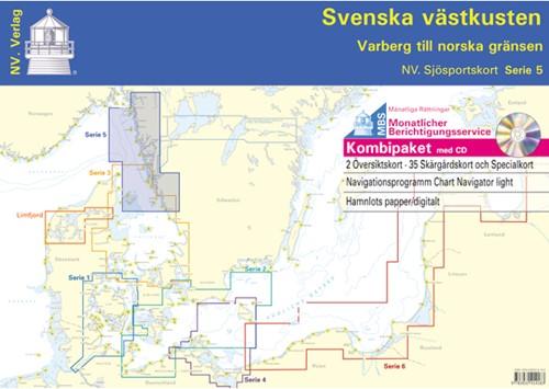 Deense NV. Atlas Serie 5 Zweedse Westkust