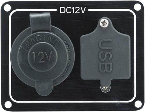 AAA paneel USB en 12V contact