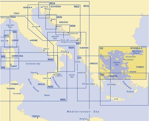 Imray kaart G 2 Aegean Sea