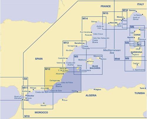 Imray kaart M 12 Cabo de Gata