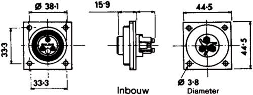 Dekstopcontact inbouw 4 polig