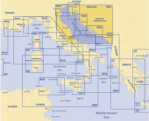 Imray kaart M 23 Adriatic Sea Passage