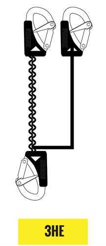 Seago veiligheidslijn 3 haken - elastisch - overbelastingsindicator