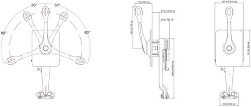 Ultraflex zijmontage RVS B400