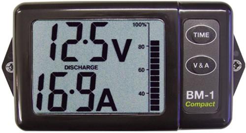 Nasa Battery monitor compact Zwart