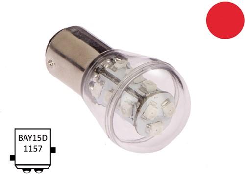 BaY15D 10-30VDC 1.2/10W rood